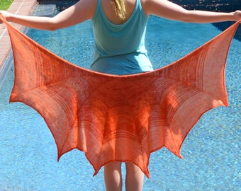 Octo Shawl - hand knitting pattern PDF