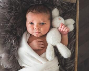 Knit Rabbit Photo Prop, Newborn Photo Prop, Photo Prop, Bunny, Knit bunny, Knit Rabbit Prop, Newborn, Knitted bunny, stuffed animal,