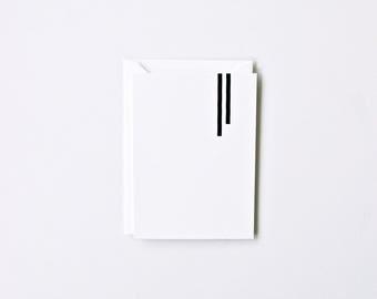 Duo - Letterpress Printed Greeting Card