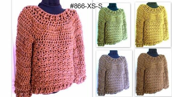 Crochet Pattern Pullover Sweater Chunky Oversized Sweater