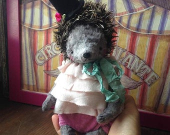 PDF Epattern for 8 inch Artist Mohair Circus Teddy Hedgehog the Prickle by Sasha Pokrass