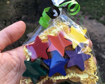 Star PARTY FAVOR Crayons // Crayon Goodie Bag  // Star Party // Non Candy Valentine // Personalized Gifts // Crayola