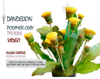 Video tutorial Master class dandelion made of polymer clay