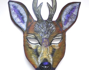 Deer Mask with Antlers