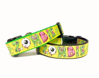 Yellow Zombies Outbreak Dog Collar