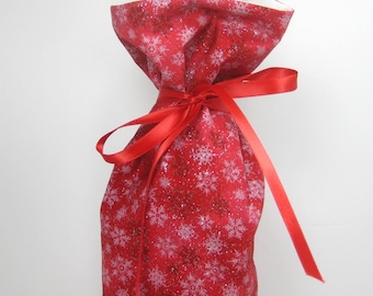 Red Sparkle, Class Wrap Wine Gift Bag