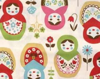 Japanese Fabric Kokka Matroyshka Doll Fabric By The Yard