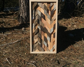 Reclaimed Wood Abstract Wall Art