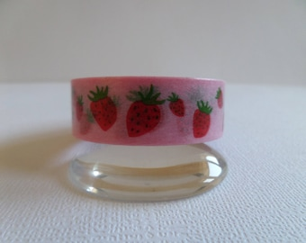 Washi tape pretty pink and red strawberries
