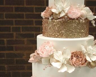 Love Cake Topper, Rose Gold Cake Topper, Gold Cake Topper, Cake Topper For Wedding,  Bridal Shower Cake Topper, Engagement Cake Topper