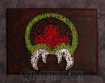 Metroid String Art Wall Plaque