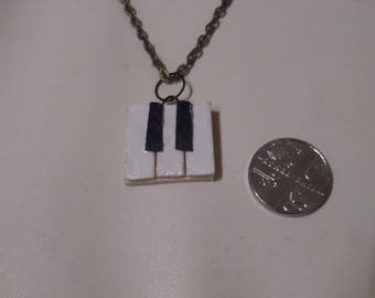 Miniature Piano Keyboard Necklace