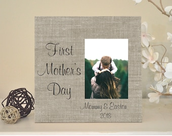 First Mothers Day Frame, First Mothers Day Gift for Mom Personalized Picture Frame, Mom Frame, Mom Gift, My First Mother's Day, Boy or Girl