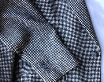 BROOKS BROTHERS Houndstooth Camel Hair Sport Coat