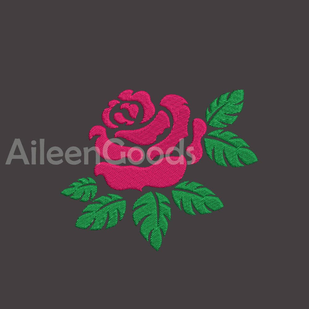 Rose Embroidery design 7Size INSTANT download machine