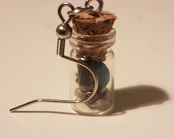 Cute Bottled Electrical Component Earrings for the Environmentally Friendly Nerds and Geeks
