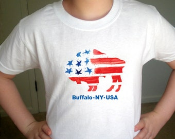 Buffalo USA Flag - Children's TShirt
