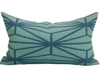 Katana lumbar pillow cover in Jade/Teal