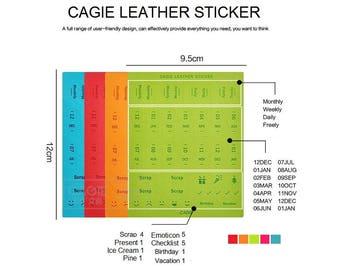 Index Leather Sticker - Planner Sticker-Index Tabs - Marker- Month Tabs