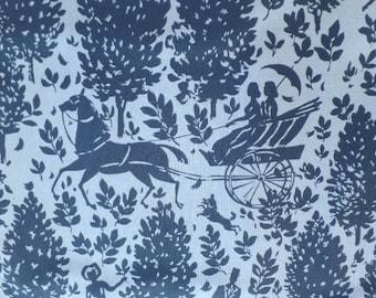 Amy Butler Fabric Cameo Folly Zinc Blue Romantic PWAB092.ZINKX
