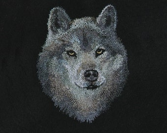 Wolf 0001 digital design for embroidery machine
