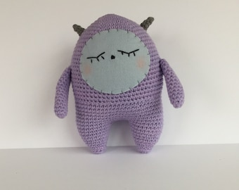 Amigurumi Monster, Crocheted Monster, Shy Monster, Plush Monster, Friendly Amigurumi Monster