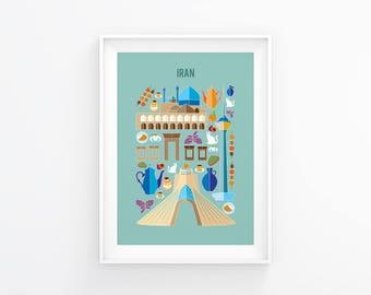 Iran print