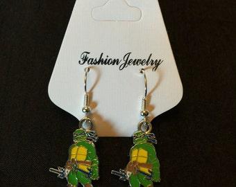 Silver Plated Teenage Mutant Ninja Turtles Earrings