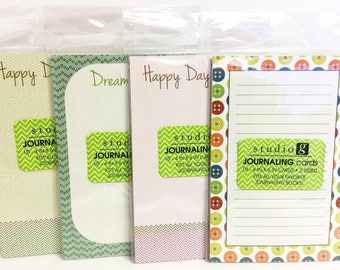 Studio G Journaling Cards ~ Set of 4 Packages