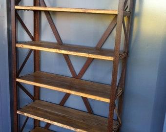 Rusty metal shelf