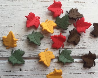 """Leaf Buttons, Packaged Novelty Buttons """"Falling Leaves"""" #4618 Autumn Collection, Shank Back Buttons, Embellishments"""