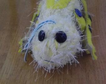 Hairy frog (Blue) -plush, fantasy,handmade OOAK