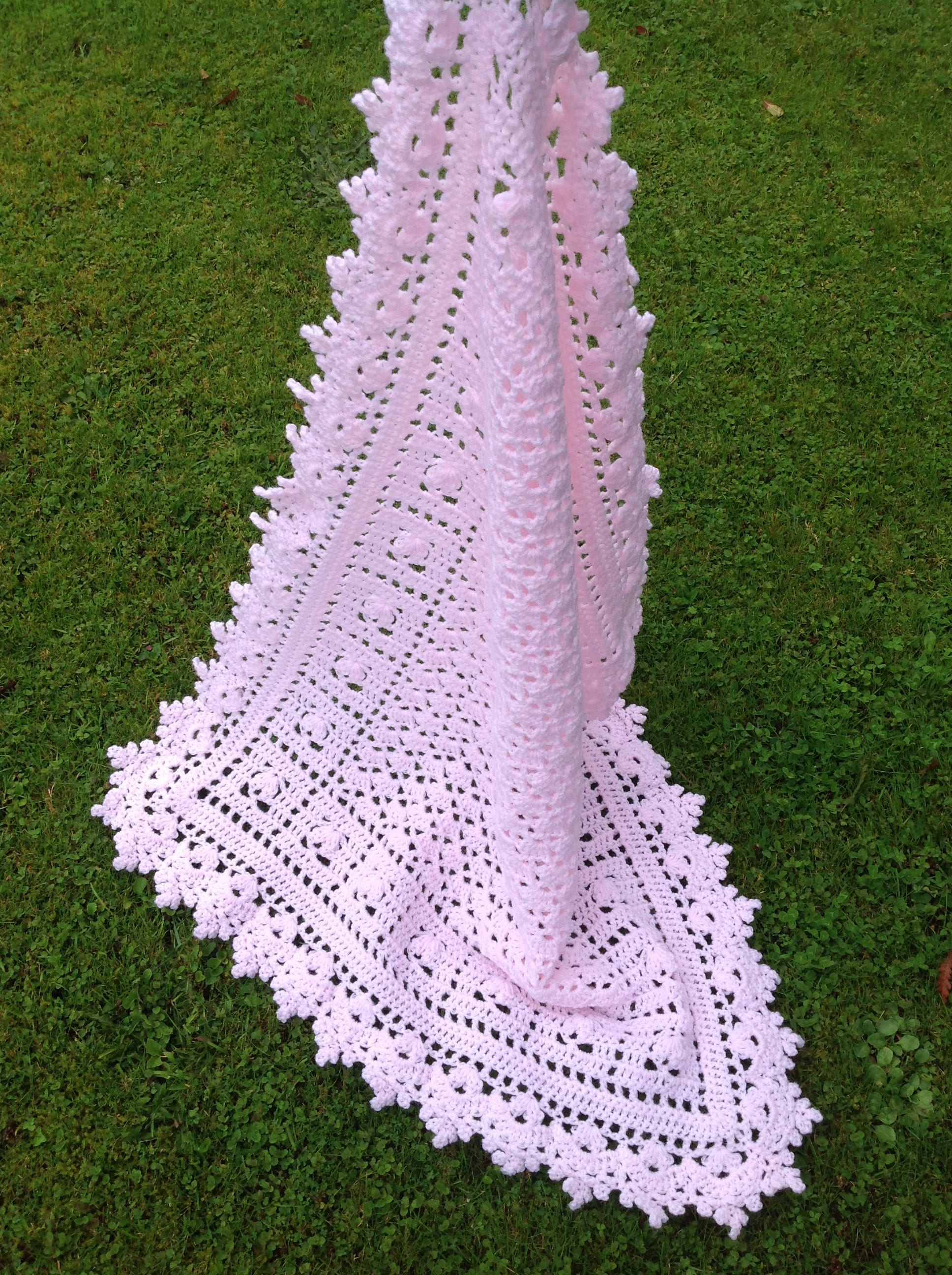 Crochet Baby Blanket Pink Crochet Baby Afghan Sweet Dreams