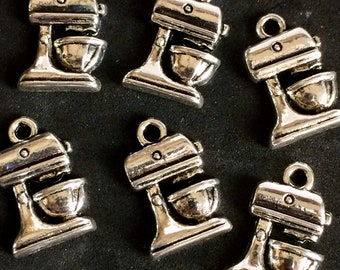 Baking Charms Cooking Baking Charms Antique Silver Tone 6 Count