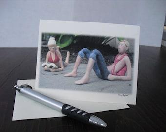 Teens -- Blank Greeting Card.