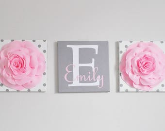 Personalized Girl Baby Gift Wedding Birthday Gift First Name Sign Girl Name Wall Art New Baby Gift Girls Bedroom Sign Monogram Name Decor