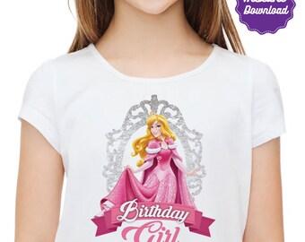 DIY Printable Sleeping Beauty Iron On Transfer, birthday girl, Princess Aurora t-shirts, instant download, DIY, Printable