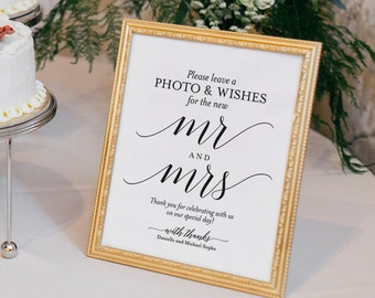 Photo Guest Book Sign, Wedding Guest Book Sign, Guest Book Printable, Guest Book Alternative, Wedding Sign, PDF Instant Download #BPB310_45B
