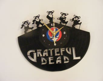 Grateful Dead Deady Bear Laser Cut Album Clock