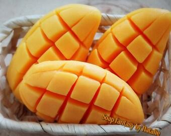 Mango Soap,Mango Shape Soap,Party Favor,Soap Joke