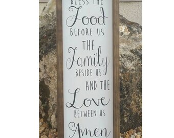 """Bless the Food before Us Sign 