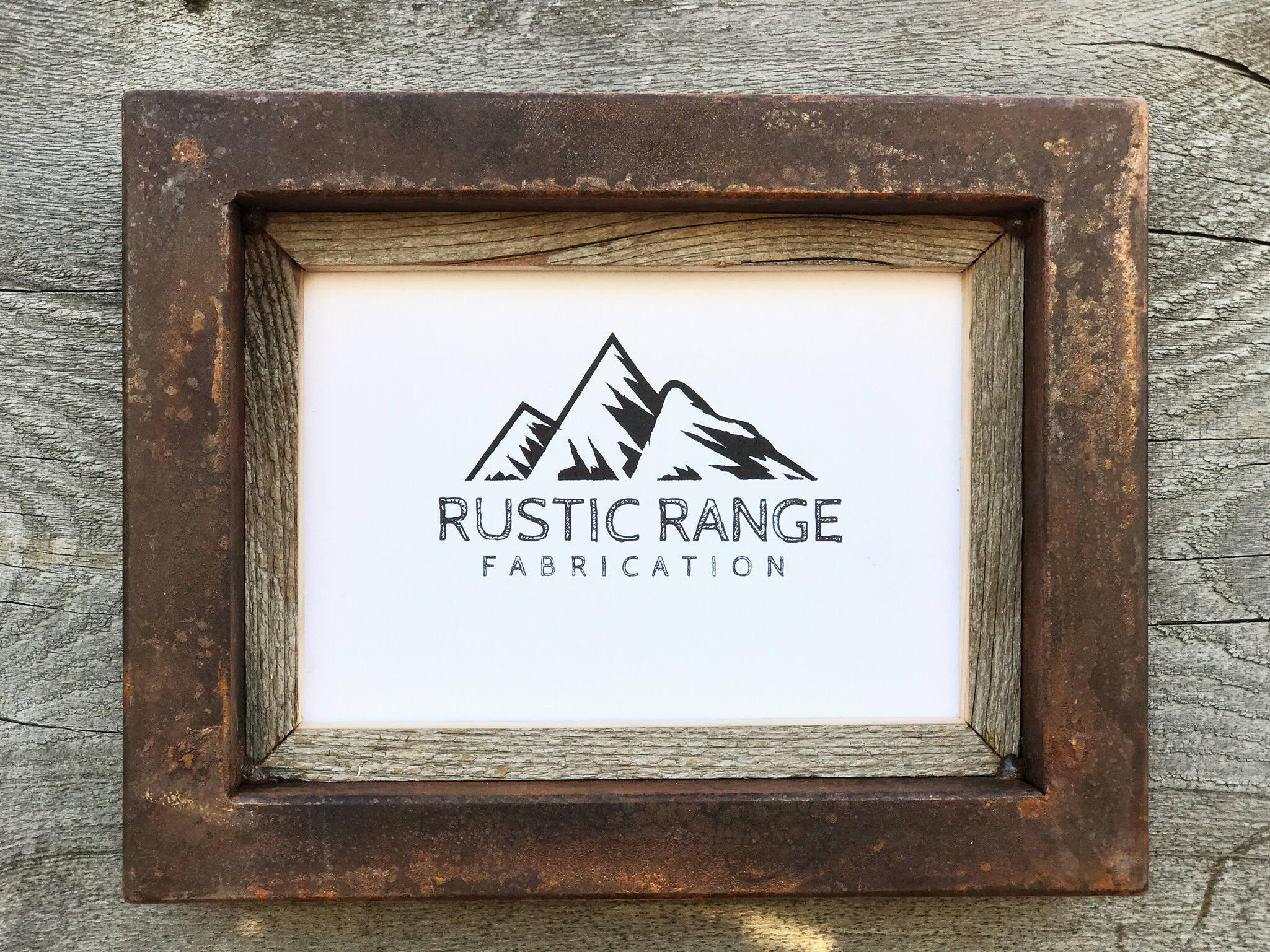 Rustic Picture Frame Industrial Decor Anniversary Gift