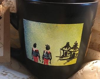 Hand painted coffee mug families - CM4-31