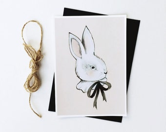 Bunny + Bow Print - 5X7