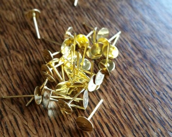 6mm Gold Earring Posts
