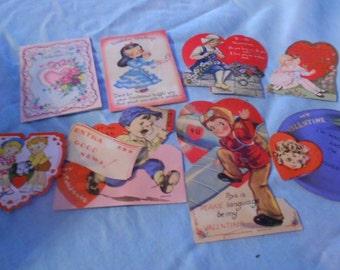Vintage Valentines Set of 8