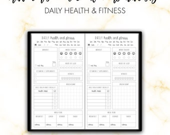 Traveler's Notebook Personal Daily Health & Fitness Insert Printable