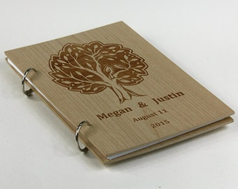 Wedding Guest book, Rustic Wood Guestbook, Personalized Guest Book, Bridal Shower Gift