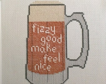 Beer Lovers Cross-Stitch Pattern