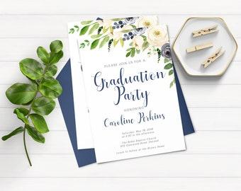 Graduation Invitation Graduation Party Invitation Graduation Invite College Graduation High School Graduation Grad Graduate University